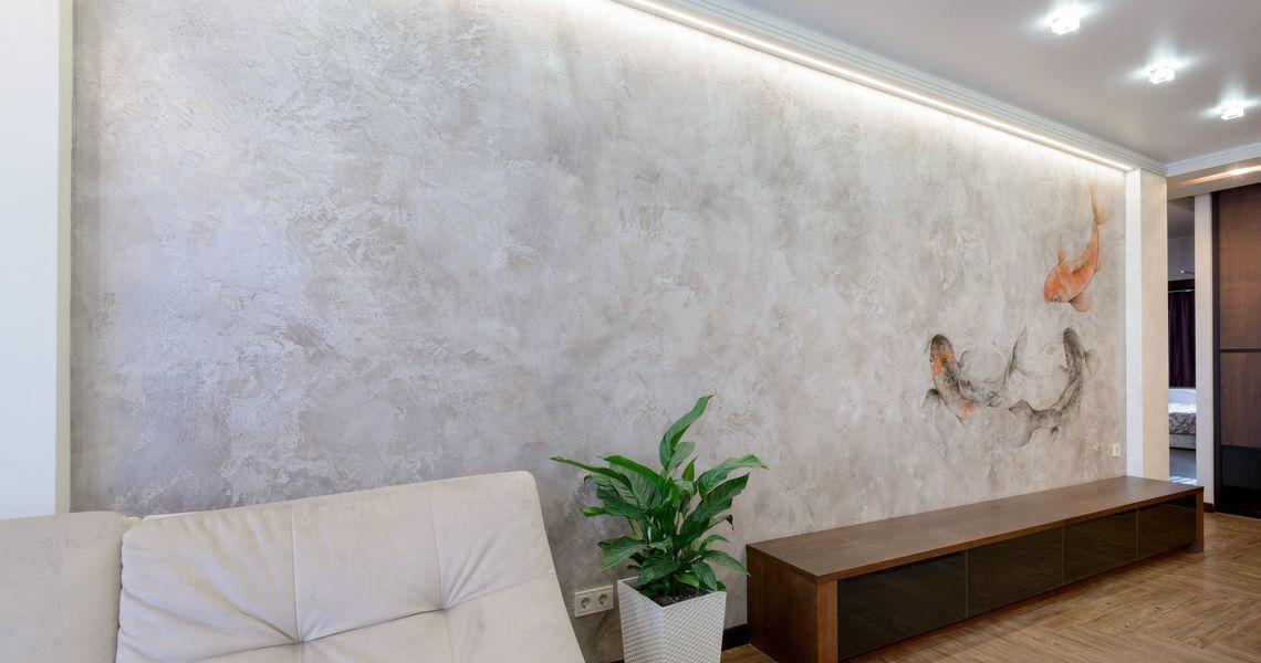 Венецианская штукатурка. Фото в интерьере квартиры.>