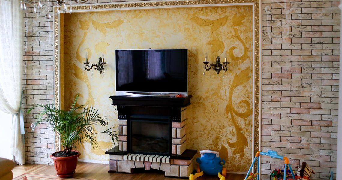Декоративные краски с эффектами для стен. Разновидности и фото>