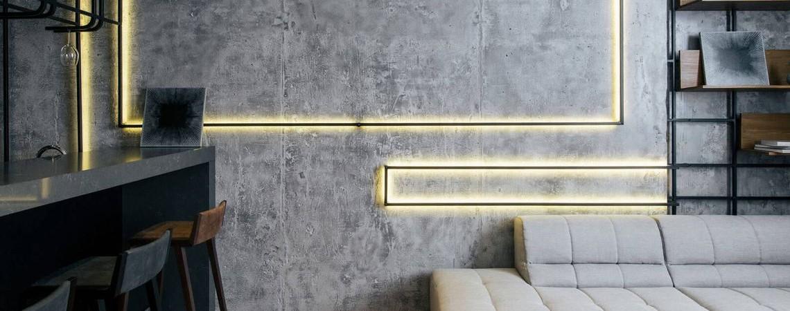 Как сделать эффект бетона на стене