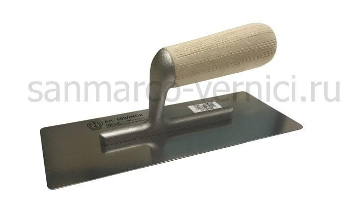 Венецианская кельма Pavan 825 размер 200*80 мм деревянная ручка