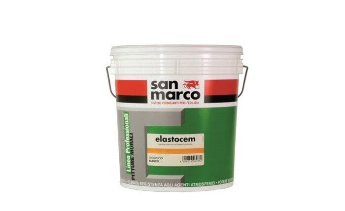 Elastocem (Эласточем) - интерьерная и фасадная краска от San Marco