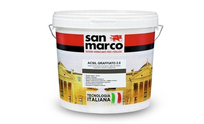 Acsil graffiato (Аксил Графьято 2,0) - фасадная штукатурка от San Marco Russia