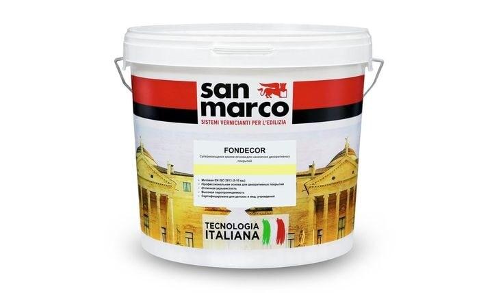 Fondecor (Фондекор) - грунт краска от San Marco Russia