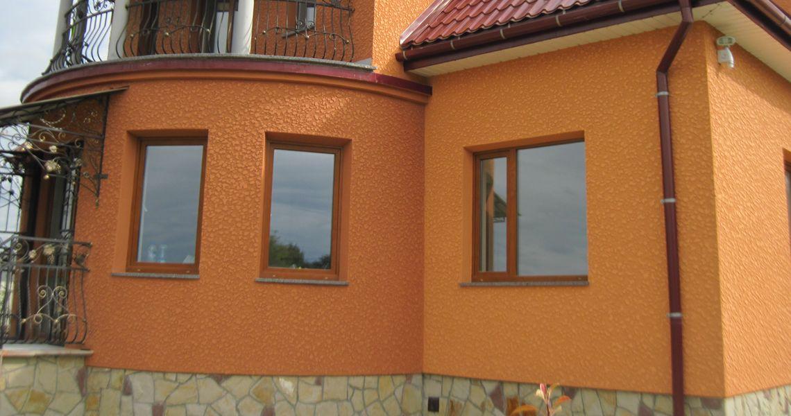 оранжевые дома оштукатуренные фото стал уже привычной