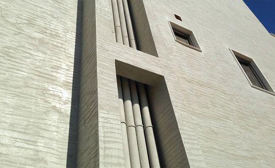 Декоративная отделка фасадов водоэмульсионными красками и штукатурками